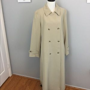Talbots Tan Trench Coat Double Breasted